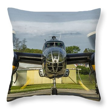 Wwii B-25 Throw Pillow