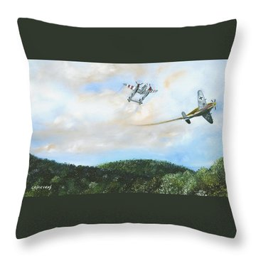 Wwii Dogfight Throw Pillow