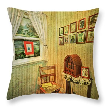 Throw Pillow featuring the photograph Wwii Era Room by Lewis Mann