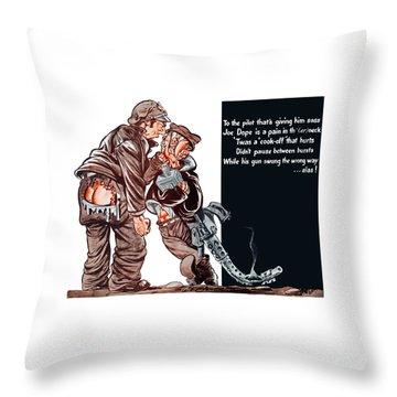 Wwii Joe Dope Cartoon Throw Pillow