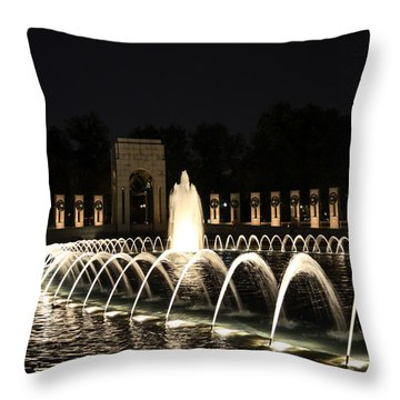 Wwii Memorial Throw Pillow