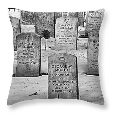 Wwii Soldiers  Throw Pillow by JRP Photography