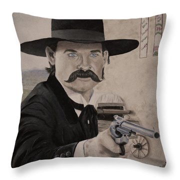 Wyatt Earp 3 Throw Pillow