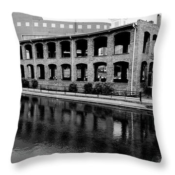 Throw Pillow featuring the photograph Wyche Pavilion by Corinne Rhode