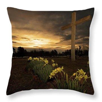 Wye Mountain Sunset Throw Pillow