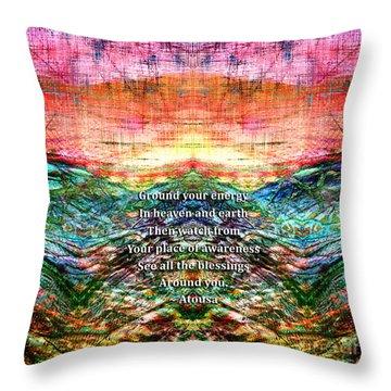 Throw Pillow featuring the photograph Ground Your Energy by Atousa Raissyan