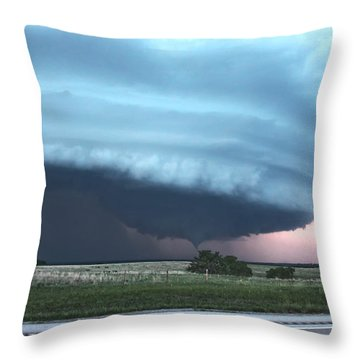 Wynnewood Tornado Throw Pillow