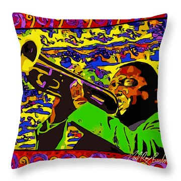 Wynton Marsalis Plays Louis Armstrong Rework Throw Pillow