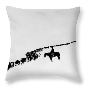 Wyoming: Cattle, C1920 Throw Pillow