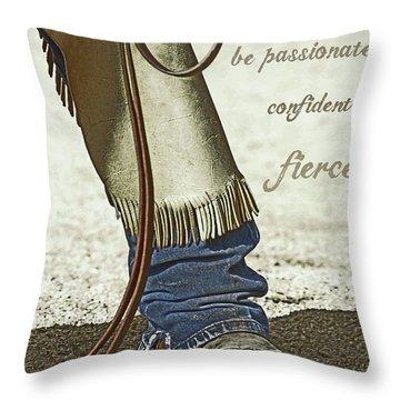 Wyoming Fierce Throw Pillow