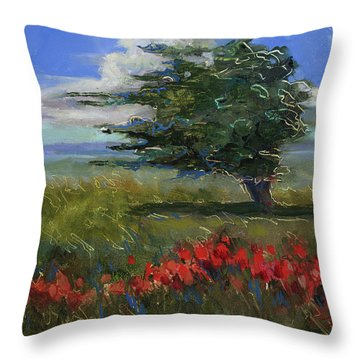 Throw Pillow featuring the painting Wyoming Gentle Breeze by Billie Colson