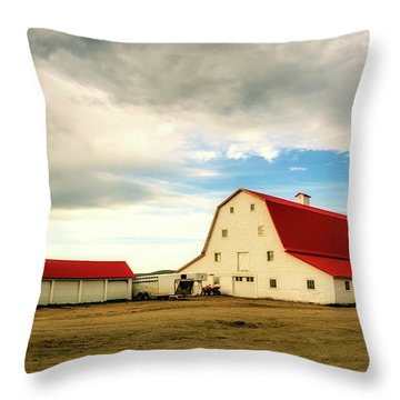 Wyoming Ranch Throw Pillow by L O C