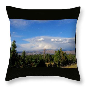 Wyoming Storm Clouds Throw Pillow
