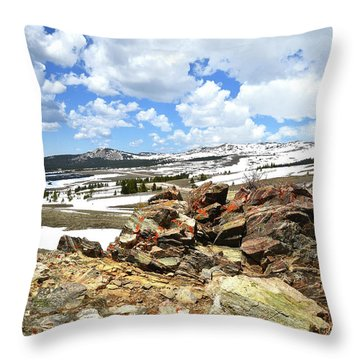 Throw Pillow featuring the photograph Wyoming's Big Horn Pass by Ray Mathis