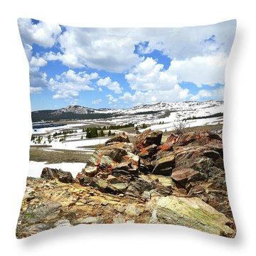 Wyoming's Big Horn Pass Throw Pillow