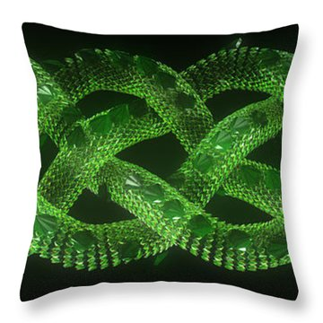 Wyrm - The Celtic Serpent Throw Pillow