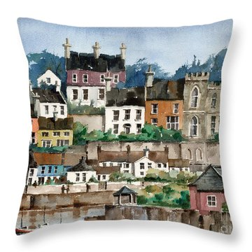 F 762   Kinsale Harbour, Cork Throw Pillow