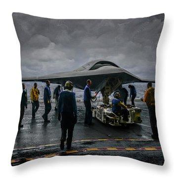 X-47b Uav  Throw Pillow