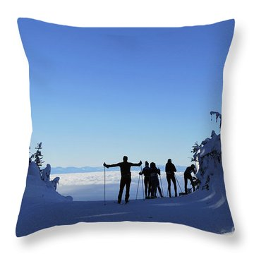X-country Skiing  Throw Pillow