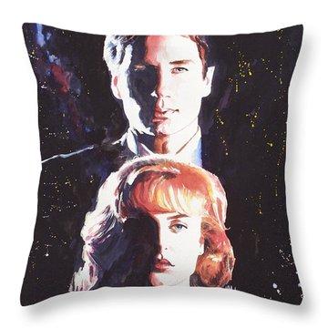 X-files Throw Pillow by Ken Meyer