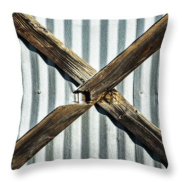 Throw Pillow featuring the photograph X Marks The Spot by Karol Livote