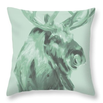 Throw Pillow featuring the painting X Mas Moos 2 by Go Van Kampen