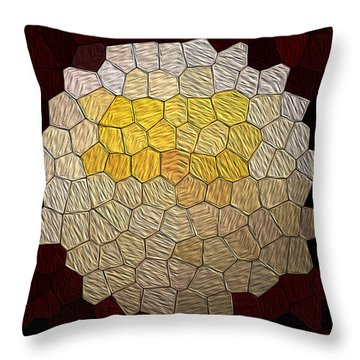X-mas Tiles Throw Pillow