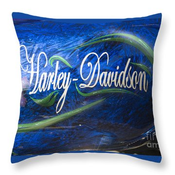 Harley Davidson 2 Throw Pillow by Wendy Wilton