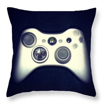 Silver Shot Throw Pillow