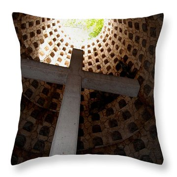 Xcaret Cemetery Catacomb Throw Pillow