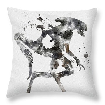 Xenomorph Throw Pillow