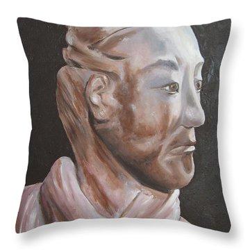 Xian Warrior China Throw Pillow