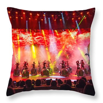 Xiangxi Night Show #1 Throw Pillow by Wade Aiken