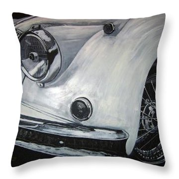 Xk150 Jaguar Throw Pillow