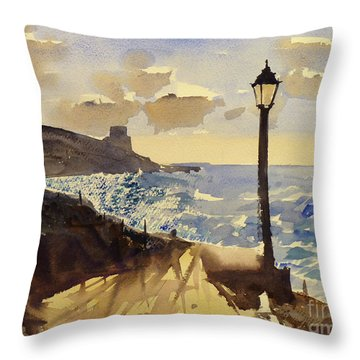 Xlendi Gozo Throw Pillow