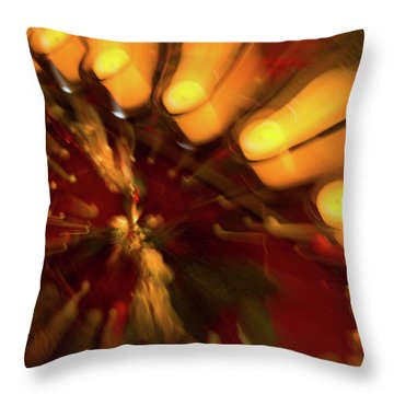 Throw Pillow featuring the photograph Xmas Burst 1 by Rebecca Cozart