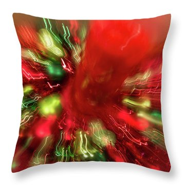 Throw Pillow featuring the photograph Xmas Burst 2 by Rebecca Cozart