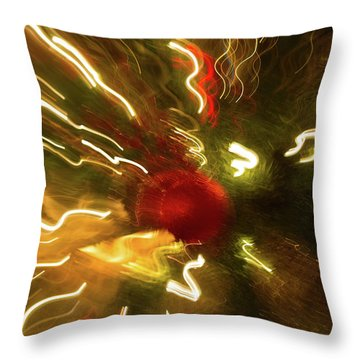 Throw Pillow featuring the photograph Xmas Burst 3 by Rebecca Cozart