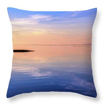 Xtra Blue Throw Pillow