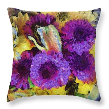 Xtreme Floral Twelve Cozy And Snug Throw Pillow