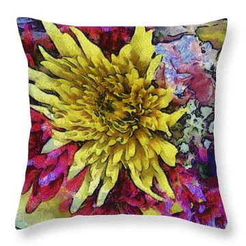 Xtreme Floral Thirteen Reaching Out Throw Pillow