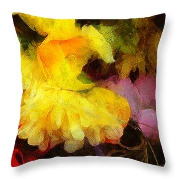 Xtreme Floral 18 Yellow Unfolding Throw Pillow