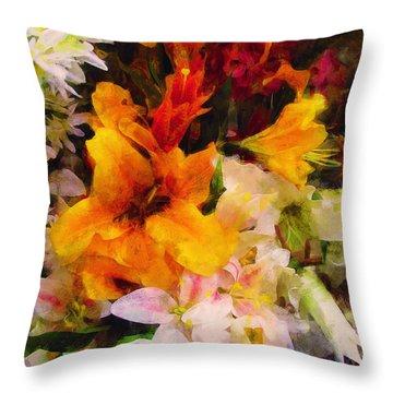 Say Ahhhh Xtreme Floral Twenty Throw Pillow
