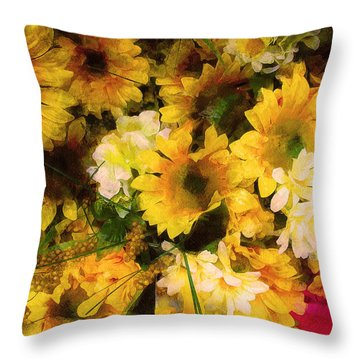 Hot Pink Hiding Xtreme Floral 21 Throw Pillow