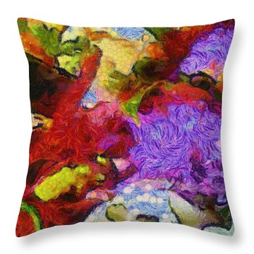 Xtreme Floral Three Riot Throw Pillow