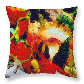 Xtreme Floral Four Throw Pillow by Spyder Webb