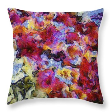 Xtreme Floral Five Cascade Throw Pillow by Spyder Webb