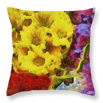 Xtreme Floral One Just Plain Magic Throw Pillow
