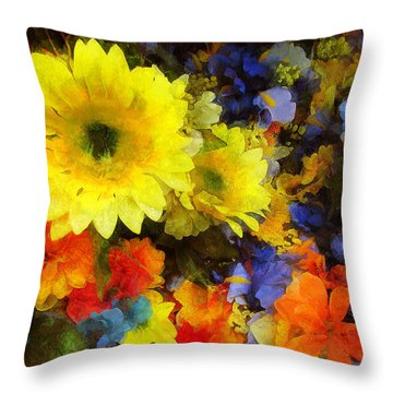 Xtreme Floral Seventeen Into The Depths Throw Pillow