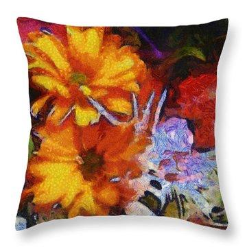 Xtreme Floral Two Throw Pillow